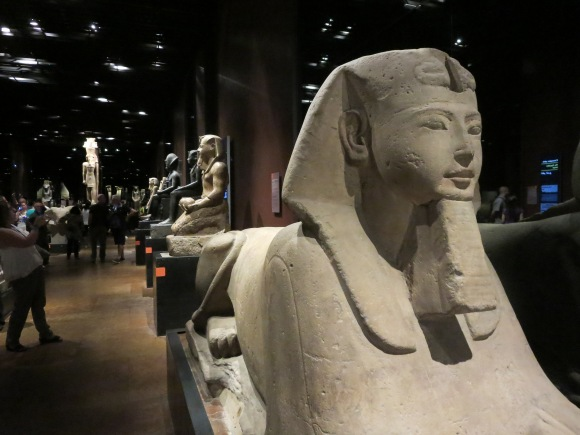 Oddly enough, Turin is the home of one of the biggest collections of Egyptian artifacts in the world. Here's the Gallery of the Kings at the Egizio Museo di Torino.
