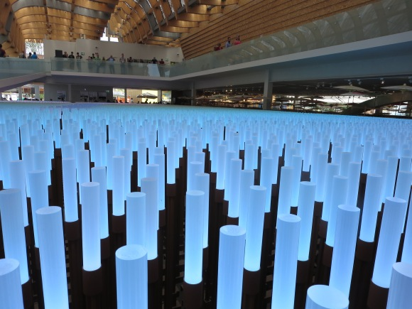 20,000 LEDs form a room-sized floor display in the China pavilion.