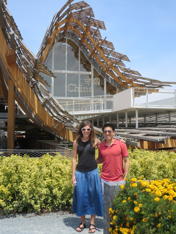 With Francesca at the China pavilion.