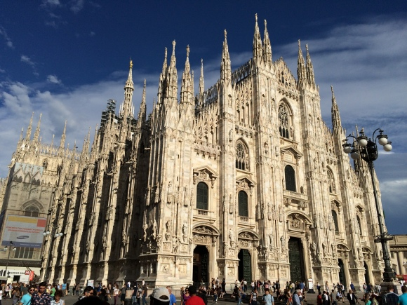 Duomo di Milano. Right at the center of Milan, the Duomo is the largest cathedral in Italy and far too ornate to comprehend.